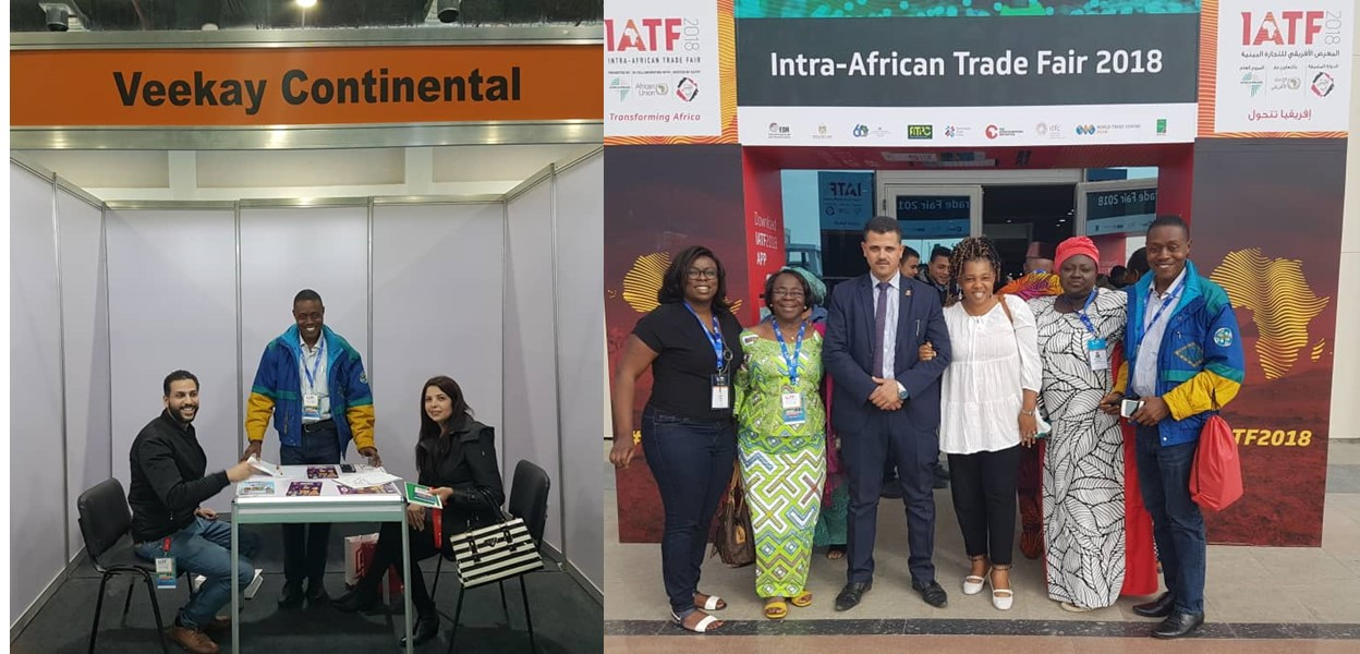 Veekay at the 2018 Intra-African Trade Fair in Cairo Egypt!